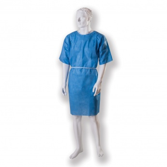 patient's gown, tied up non-woven, non-sterile